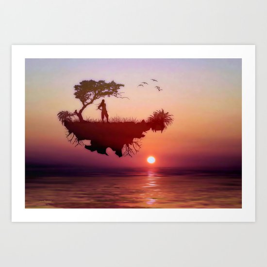LANDSCAPE - Solitary sister Art Print