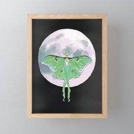 Luna Moth and Moon Framed Mini Art Print