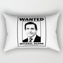 Michael Scarn Wanted Poster Rectangular Pillow