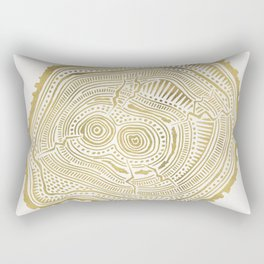 Peachleaf Willow – Gold Tree Rings Rectangular Pillow
