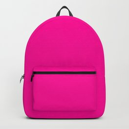 Neon Pink Solid Colour Backpack