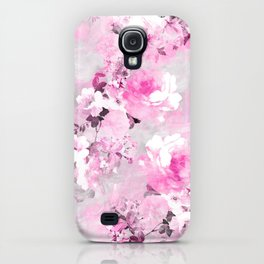 Purple grey floral watercolor romantic flowers pattern iPhone Case