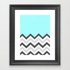 Color Blocked Chevron 16 Framed Art Print