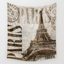 Vintage Paris eiffel tower illustration by lebensart