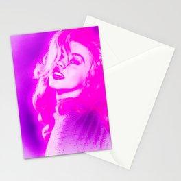 Vintage Lady Fuchsia Pink Stationery Cards