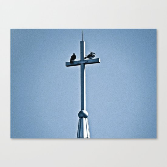 Perched on a Steeple Canvas Print