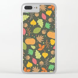 Thanksgiving pattern Clear iPhone Case
