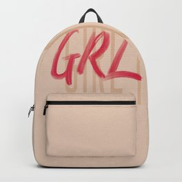 Girl Power GRL PWR - Typography and Lettering Backpack