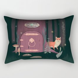 Sorcerer Of Woodland Charms Potions Spells And Fortunes Rectangular Pillow