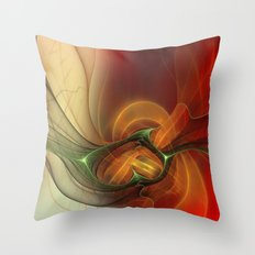 Sunset abstract Throw Pillow