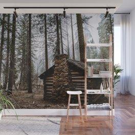 Mystic Log Cabin Wall Mural