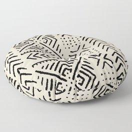 Line Mud Cloth // Bone Floor Pillow