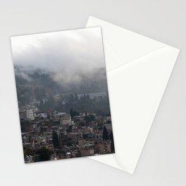 Nazareth, Israel on a rainy morning Stationery Cards