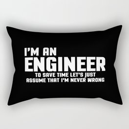 I'm An Engineer Funny Quote Rectangular Pillow
