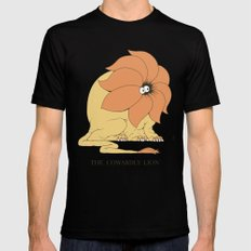 The Cowardly Lion MEDIUM Black Mens Fitted Tee