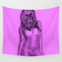 chewbacca Wall Tapestries featuring Sexy Chewbacca by Julien Kaltnecker