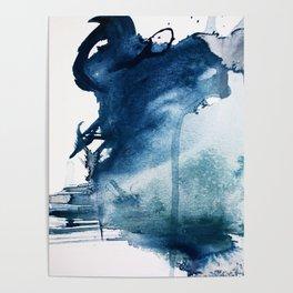 Pacific Grove: a pretty minimal abstract piece in blue by Alyssa Hamilton Art Poster