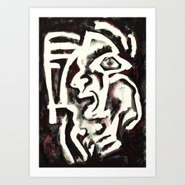 Member of the Tribe - ivory Art Print