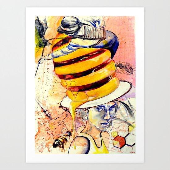 Bee extinction Art Print