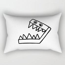 Toothy Rectangular Pillow
