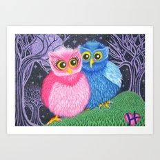 Owl Love Art Print