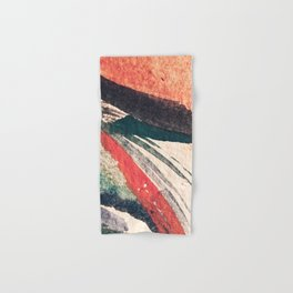 Thunder&Lightning {3}: Minimal watercolor abstract in pinks, blues, and greens Hand & Bath Towel