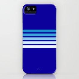 Retro Stripes on Blue iPhone Case