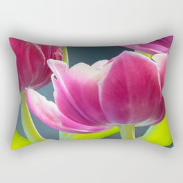Tulip Bouquet Spring Atmosphere #decor #society6 #buyart Rectangular Pillow