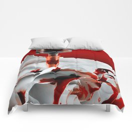 Paining a Rose Red Comforters