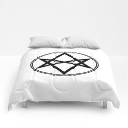 Men of Letters Symbol Black Comforters