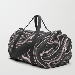 Black Gray White Rose Gold Marble #1 #decor #art #society6 Duffle Bag