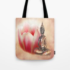 In the land of quiet thought - Buddha Tote Bag