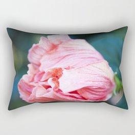 Jane Cowl Tropical Hibiscus Petals Unfurling Rectangular Pillow