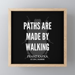 16  |  Franz Kafka Quotes | 190517 Framed Mini Art Print
