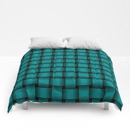 Dark Cyan Weave Comforters