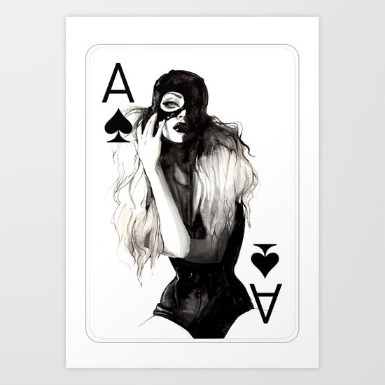 Ace of Spade Art Print