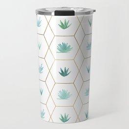 Geometric Succulents Travel Mug