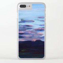 Wetlands at Sunset Clear iPhone Case
