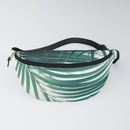 Palm Leaves Green Vibes #4 #tropical #decor #art #society6 Fanny Pack