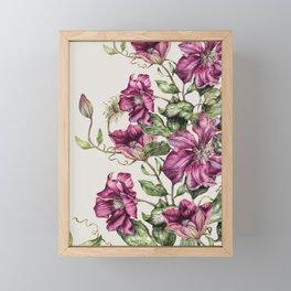 Purple Flowers 3 Framed Mini Art Print