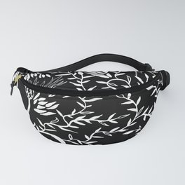 nature in black Fanny Pack