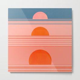 Abstraction_Sunset_Minimalism_002 Metal Print