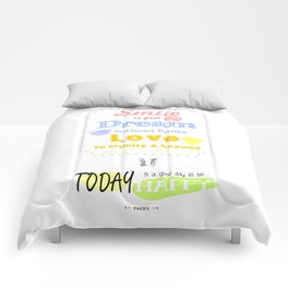 {ENG} SMILE · DREAM · LOVE Comforters
