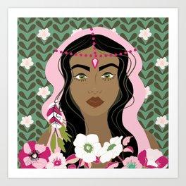 Floral & Feminine - Strong Art Print
