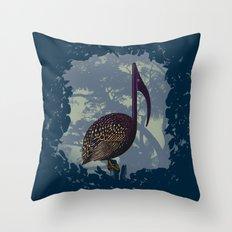 Song Bird Throw Pillow