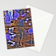 Empty cage girl Stationery Cards