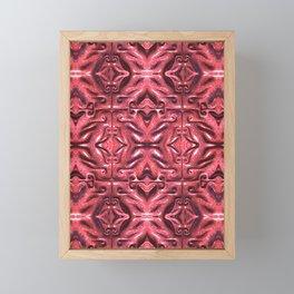 Red Bands and Swirls Framed Mini Art Print