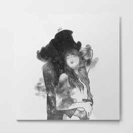 Let me feel you around. Metal Print