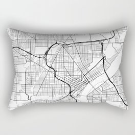 Toledo Map, USA - Black and White Rectangular Pillow