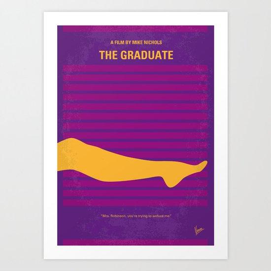 No135 My THE GRADUATE minimal movie poster Art Print